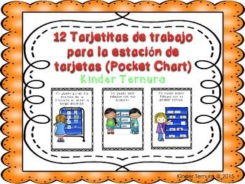 Task Cards/12 Tarjetitas de trabajo para la estacion de tarjetas (Pocket Chart)