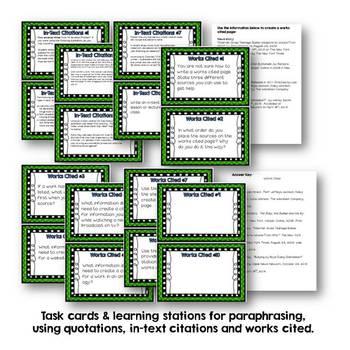 Task Cards/Learning Stations for Improving ELA Skills (Bundle)