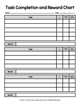 Task Completion and Reward Charts