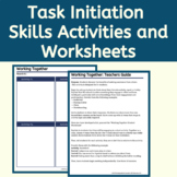Executive Function Activities & Worksheets: Task Initiation
