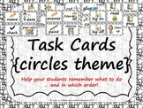 Task Order / Next Step Cards {Circles Theme} -  (American Spelling)