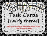 Task Order / Next Step Cards {Swirly Theme} -  (Canadian/U