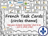 Task Order / Next Step Cards - French {Circles Theme}