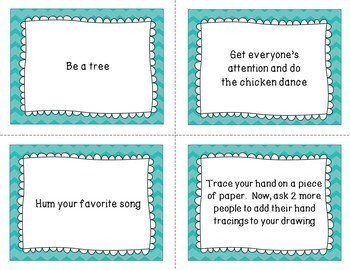 Art Task Party Cards Set 1