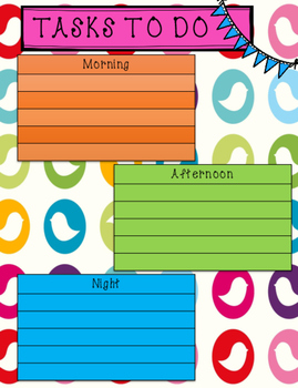 Daily Task Planner for your Planner!