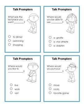 Task Prompters:  Conversation Task Cards