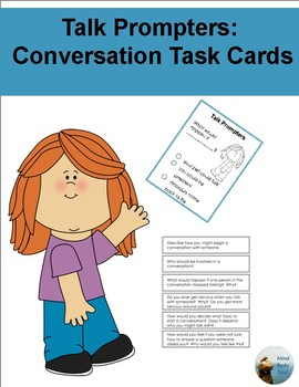 Talk Prompters:  Conversation Task Cards