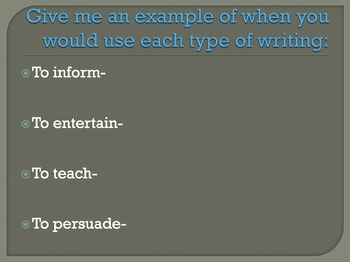 Task, Purpose, Audience Powerpoint