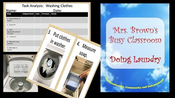 Task Sequence  - Washing Clothes