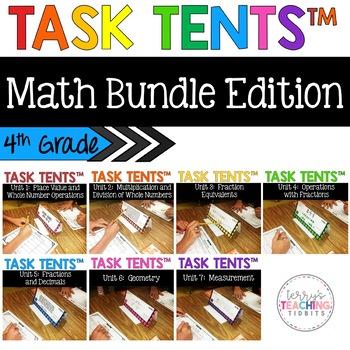 Task Tents™ Bundle - 4th Grade Math Edition {ALL 7 UNITS}