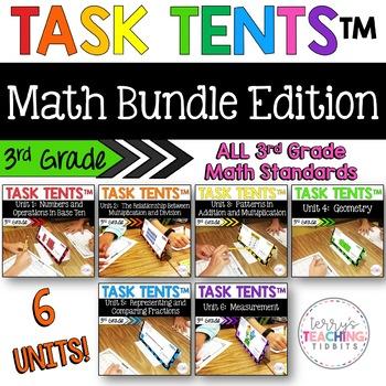 Task Tents™ Bundle - 3rd Grade Math Edition {ALL 6 UNITS}