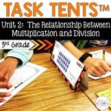 Task Tents™ - Math Edition {3rd Grade Unit 2}