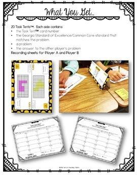 Task Tents™ - Math Edition {3rd Grade Unit 3}