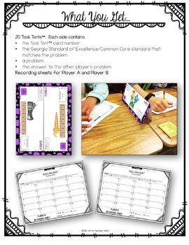 Task Tents™ - Math Edition {3rd Grade Unit 6}