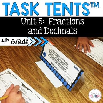 Task Tents™ - Math Edition {4th Grade Unit 5}