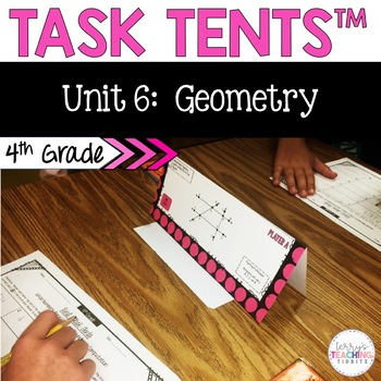 Task Tents™ - Math Edition {4th Grade Unit 6}