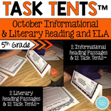 Task Tents™ - October Informational and Literary Reading &