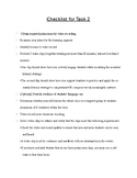Task Two Checklist for edTPA