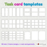 Task card templates. 38 total. Clip art for commercial use. Tent card templates.
