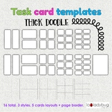 Task card templates. Clip art. Commercial use. Thick doodl
