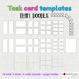 Task card templates. Clip art. Commercial use. Thin doodle