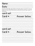 Task card worksheet