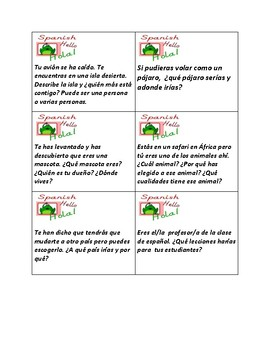 Task cards in Spanish