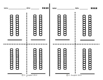 Task cards AMC 3 lined up