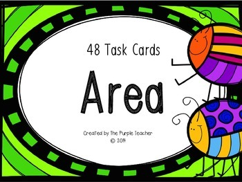 Determining the Area Task Cards