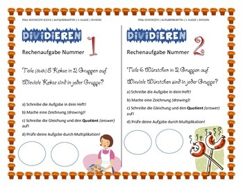 Task cards Division as Grouping (German)