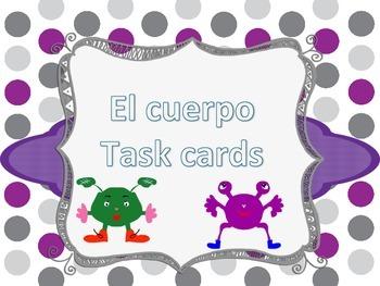 Task cards El Cuerpo Spanish Body parts
