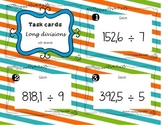 Task cards -Long  divisions with decimals