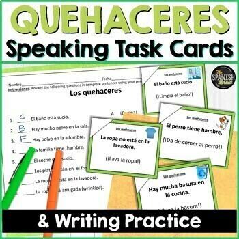 Task cards Mandatos afirmativos Affirmative commands (Realidades Spanish 1 6B)
