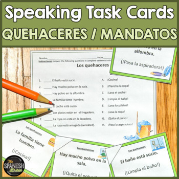 Speaking cards Mandatos afirmativos Affirmative commands (Realidades Spanish 1)