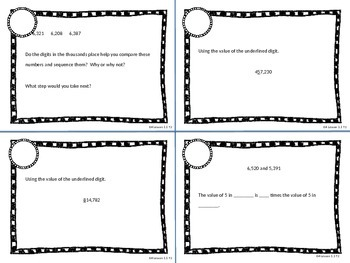 Task cards: Model Place Value Relationships and Rename