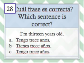 Task cards: Spanish Realidades 1 5A