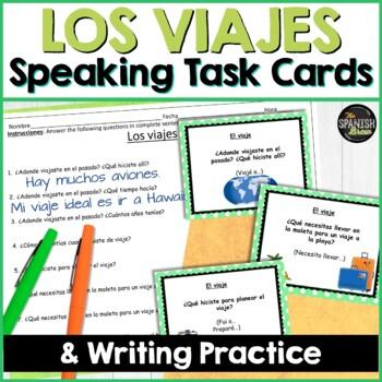Task cards Viaje, travel, preterite & imperfect (Realidades Spanish 2 8A 8B)