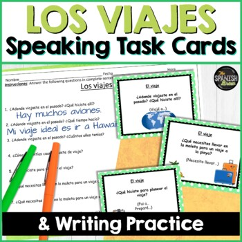 Speaking cards Viaje, travel, preterite & imperfect (Realidades Spanish 2 8A 8B)