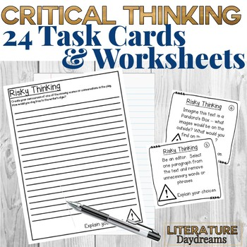 Literature task cards for any fiction text