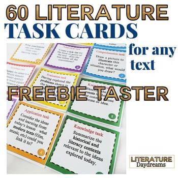 Literature Task Cards Freebie
