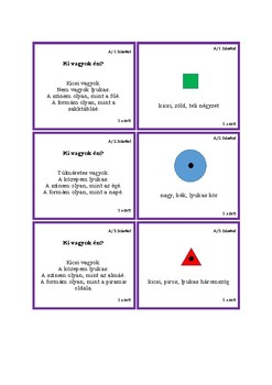 Task cards for the Dienes Logic Set