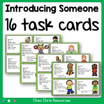 Task cards : introduce someone !