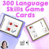 300 Game Cards for Receptive Expressive Language Skills