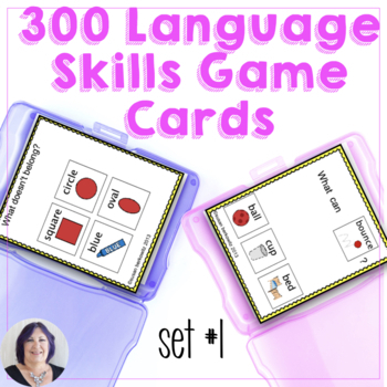 Task or Game Cards for Language for Special Ed, Speech The