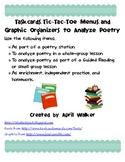 Taskcards, Tic-Tac-Toe Menu, and Graphic Organizers to Analyze Poetry