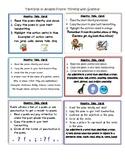 Taskcards to Analyze Poetry Using Grammar