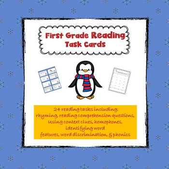 Task Cards for First Grade Reading