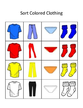 Tasks Galore Sort Colored Clothing