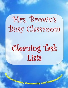 Tasks Lists and Household Chores