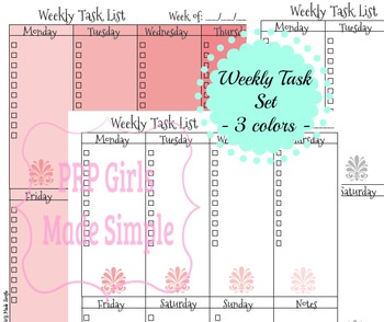 Tasks Worksheet OMBRE - 3 Colors!